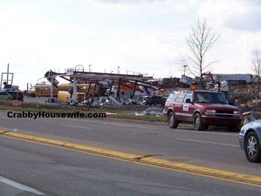 gas station after henryville tornado