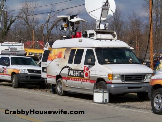 news crews henryville