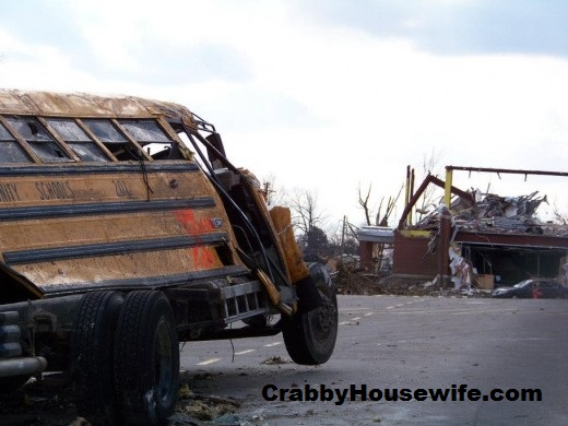 smashed bus henryville tornado