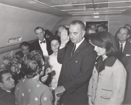 Johnson Swearing In by Cecil Stoughton