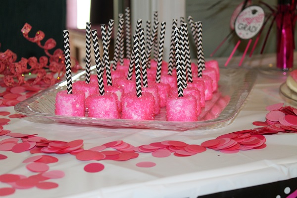 Finger Party Food Ideas – Sprinkled Marshmallows on a Stick