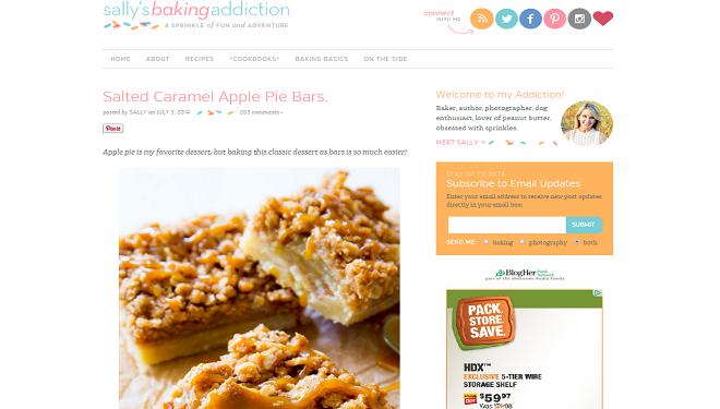 screenshot sally's baking addiction