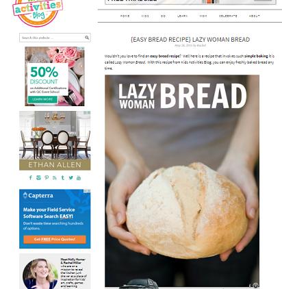 lazy woman bread