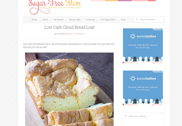 Screenshot of sugarfreemom.com
