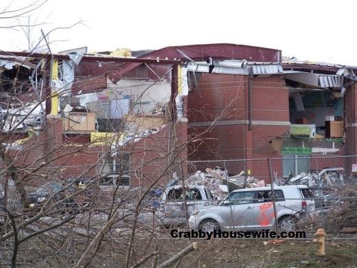 Henryville Elementary End of Building after Tornado.