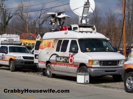 news crews henryville