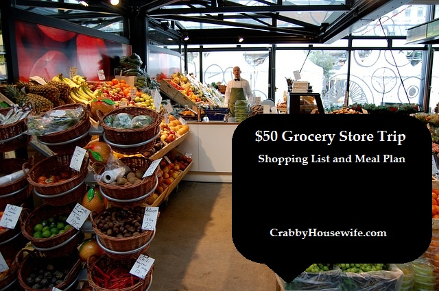 $50 Grocery Store Trip – Shopping List and Meal Plan
