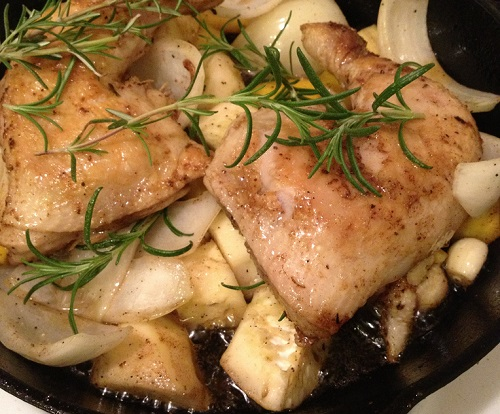 Simple Skillet Rosemary Chicken