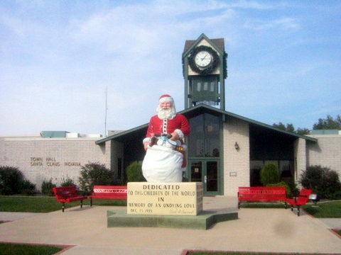 Santa Lives Here! Santa Claus, Indiana