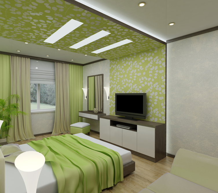 Bedroom Design Using Green – Decorating Your Room with Green, from Bedding to an Elephant Figurine