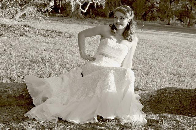 wedding dress sit