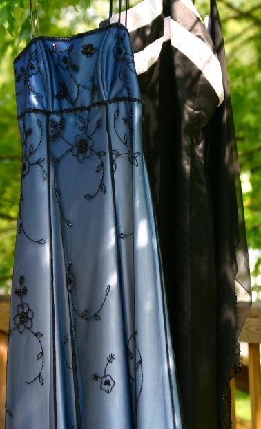 prom dresses at yard sale