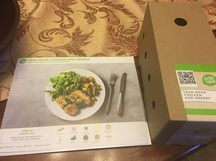 recipe and box