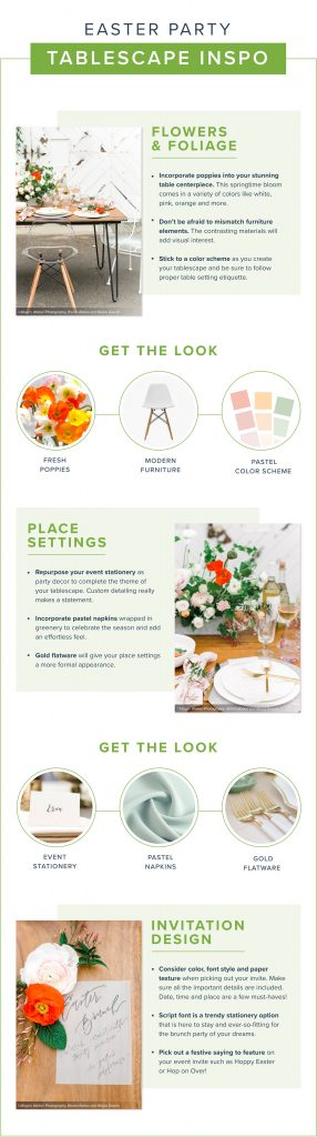 infographic from ProFlowers showing easter party entertainment ideas