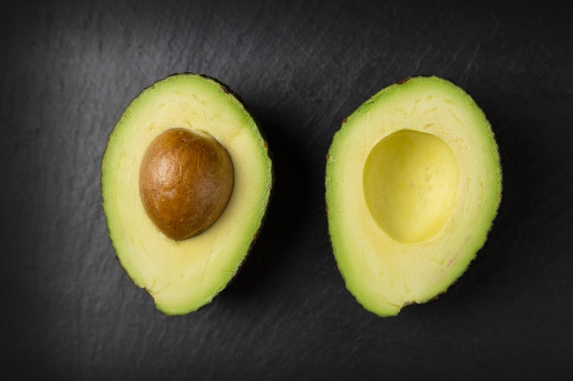 avocado halves for no-mayo guacamole