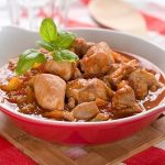 steaming hot comfort food fresh out of the crock pot - chicken provencal slow cooker recipe.