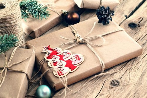 Beautifully wrapped present with cheap wrapping paper option.