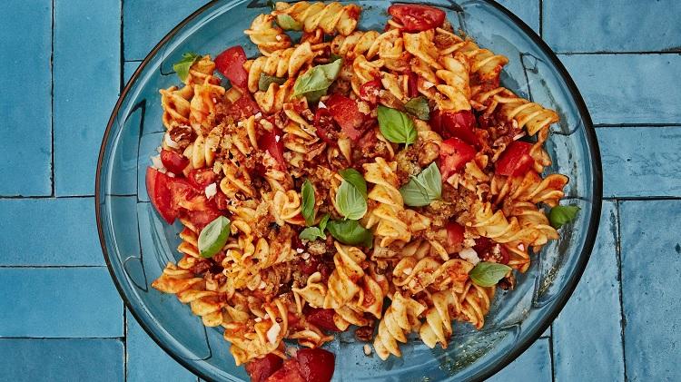easy basil pasta salad reicpe