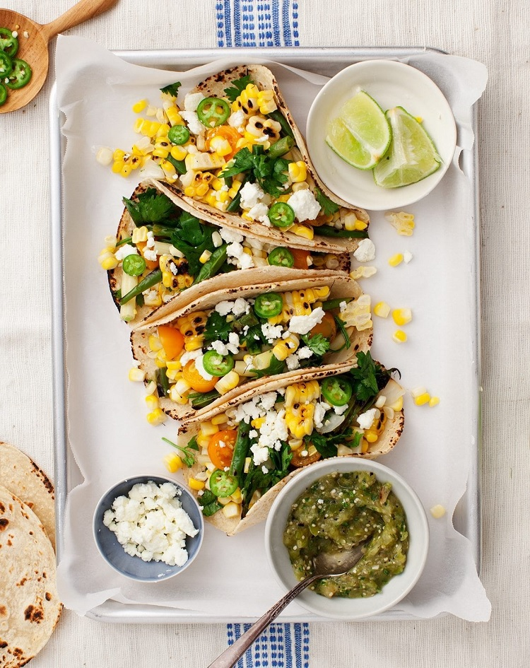 grilled corn tacos