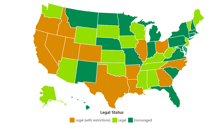 states where rainwater harvesting is legal